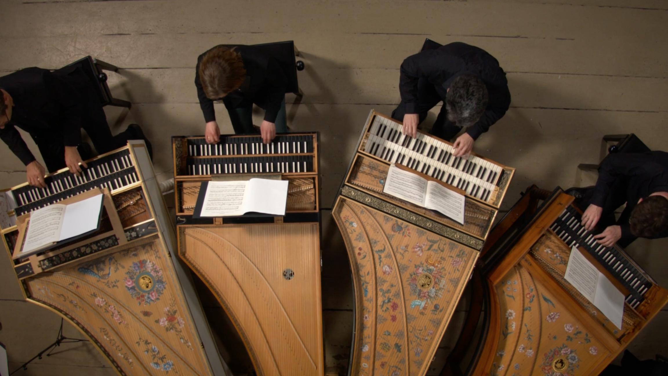 Concert voor vier klavecimbels in a klein