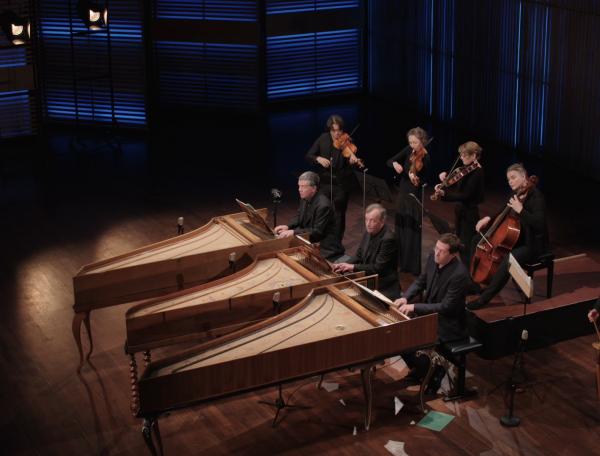 Concert voor drie klavecimbels in C groot